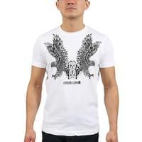 Roberto Cavalli White Eagle Logo Crewneck T-Shirt