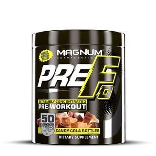 Magnum Nutraceuticals PRE-FO Pre-Workout Powder- 50 Servings - Candy Cola Bottles - Maximizes Energy - Intensity & Focus