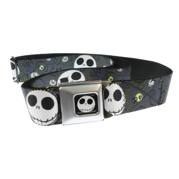 Nightmare Before Christmas Jack Expressions/Halloween Seatbelt Belt-Holds Pants Up