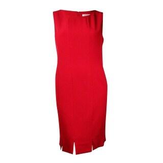 Kasper Women's Slit-Hem Woven Crepe Sheath Dress (Option: 18)