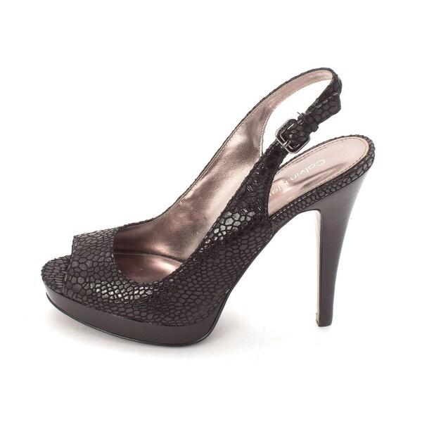 e1e2e7359a5 Shop Calvin Klein Womens Karissa Open Toe SlingBack Platform Pumps ...