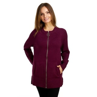 Cable & Gauge Women's Long Zip Cardigan