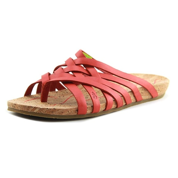 2a1811d82ff Shop Ahnu Maia Thong Women Open Toe Leather Orange Thong Sandal ...