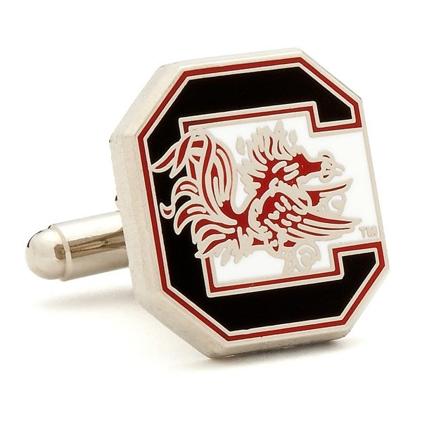 Silver Plated University of South Carolina Gamecocks Cufflinks