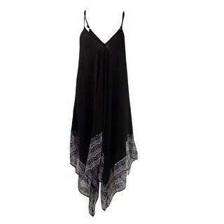 Jessica Simpson Women's Dakota Printed Handkerchief-Hem Cover-Up Dress - Black Multi