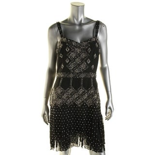 French Connection Womens Embellished Fringe Clubwear Dress - 8