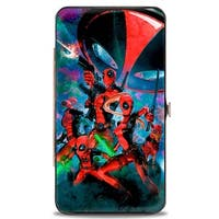 Marvel Universe Deadpool Corps 5 Member Group Pose Ufo Space Dust Hinged Hinge Wallet - One Size Fits most