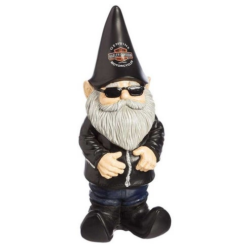 Shop Harley-Davidson Biker Themed Garden Gnome, 4.5 x 3.5 x 11 ... on