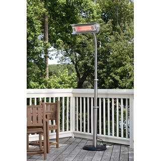 Fire Sense 02117 Stainless Steel Offset Infrared Patio Heater - STAINLESS STEEL