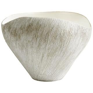 """Cyan Design 08735  Selena 11-3/4"""" Wide Ceramic Vase - Natural Stone"""
