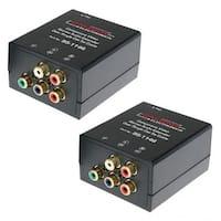 Calrad  Component Video Stereo Audio Balun Over Single Cat5e Cable