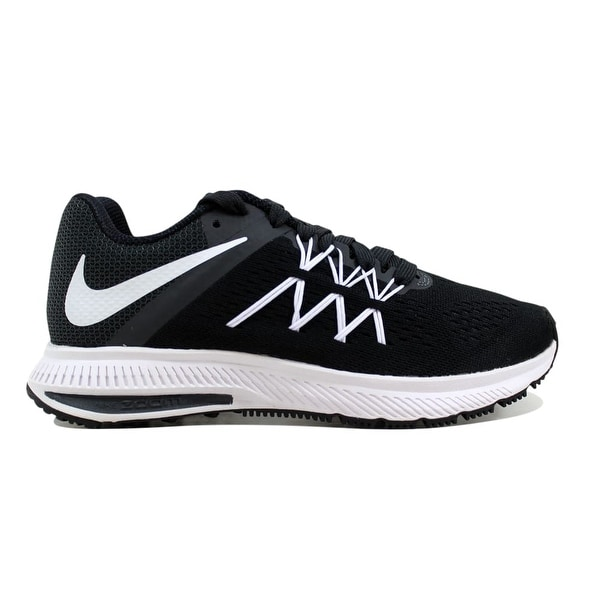 low priced f87aa 019a8 Nike Women  x27 s Zoom Winflo 3 Black White-Anthracite 831562-