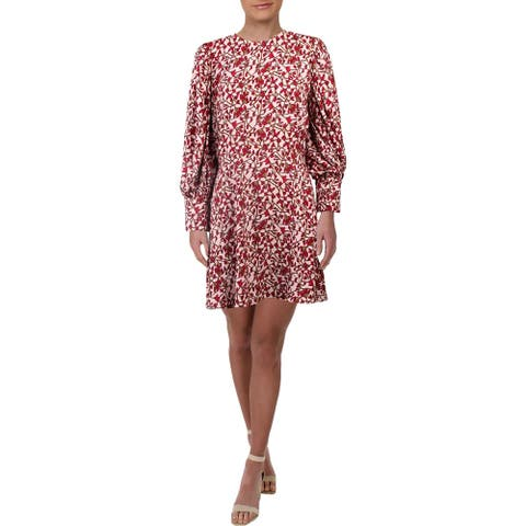 Jay Godfrey Womens Cocktail Dress Floral Open Back - Pink - 10