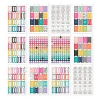 Carpe Diem A5 Planner Sticker Tablet-Tabs/Labels/Reinforcers, 522/Pkg