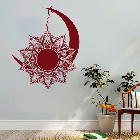 Moon and Sun Wall Decals Mandala