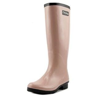 Roma Emma Women Round Toe Synthetic Pink Rain Boot
