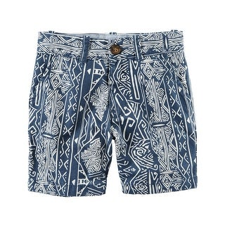 Carter's Baby Boys' Printed Flat-Front Canvas Shorts, 24 Months