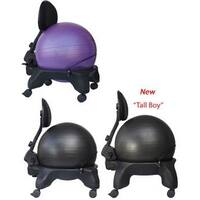 "Isokinetics Inc. Adjustable Back Exercise Ball Office Chair - Standard or (Exclusive) ""Tall Boy"" Frame Height - with 52c"