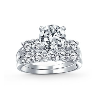 Link to 3.5CT Solitaire AA CZ Engagement Wedding Band Ring Set Sterling Silver Similar Items in Rings