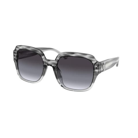 Tory Burch TY7143U 17858G 56 Grey Tri Gradient Woman Square Sunglasses