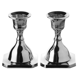 """Candle Stick Set of 2  Nickel Plated 3"""""""