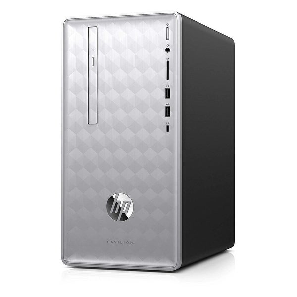 HP Pavilion p0076 AMD Ryzen 5 2400G X4 3.6GHz 8GB 1TB Win10,Silver(Certified Refurbished). Opens flyout.