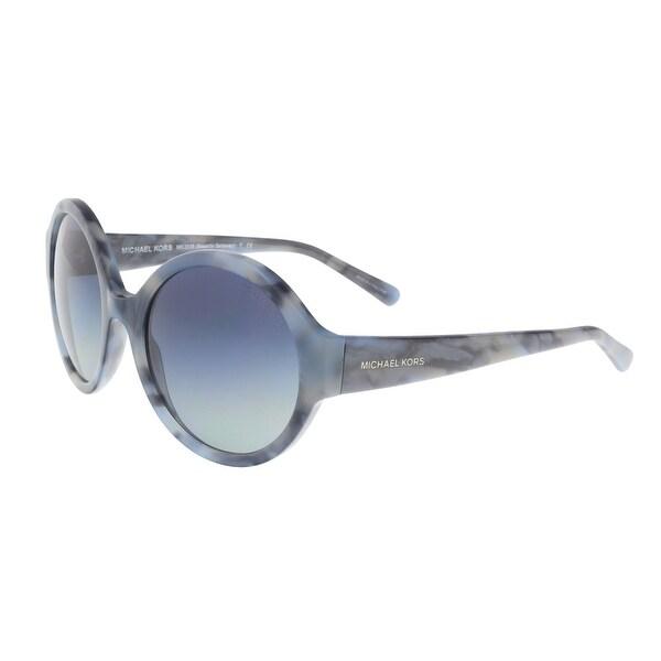 2a293e4222f11 Shop Michael Kors OMK2035 094L Gray Round Sunglasses - Grey - 55-19 ...
