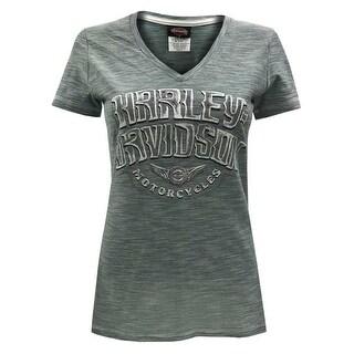 Harley-Davidson Women's Frozen Angst Short Sleeve V-Neck Jersey Tee 5K0T-HF6Q (3 options available)