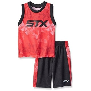 STX Boys 2T-4T STX Athletic Tank Short Set - Red