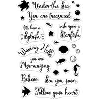 "Hero Arts Clear Stamps 4""X6""-Mer-Mazing Messages"