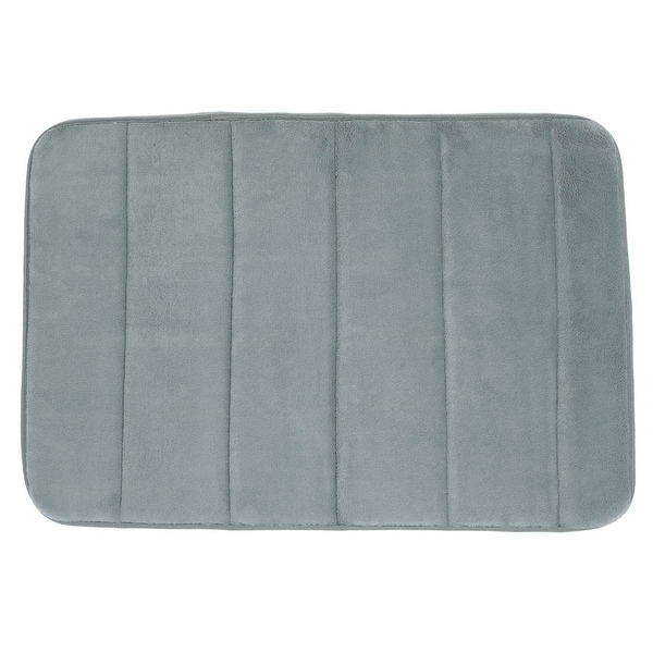 Bathroom Coral Fleece Slip Resistant Water Absorbent Floor Mat Pad Doormat