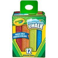 Assorted Colors 12/Pkg - Crayola Washable Sidewalk Chalk