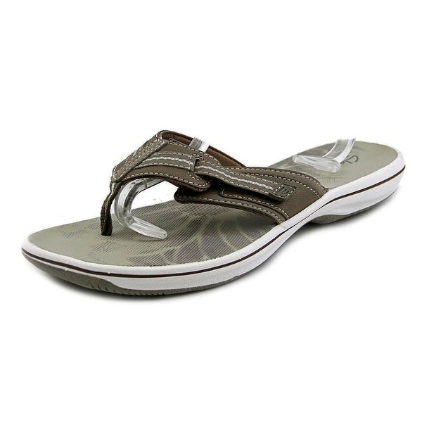 Clarks Narrative Brinkley Calm Open Toe Synthetic Thong Sandal