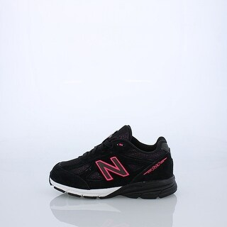 New Balance Girls KJ990RBI Low Top Lace Up Running, Black/Pink, Size 7 US Kids - 7 us kids