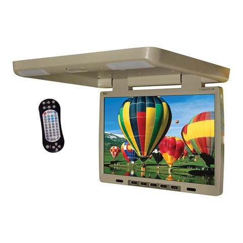 Tview t154dvfd tview 15.4 flip down monitor with built in dvd ir/fm trans tan
