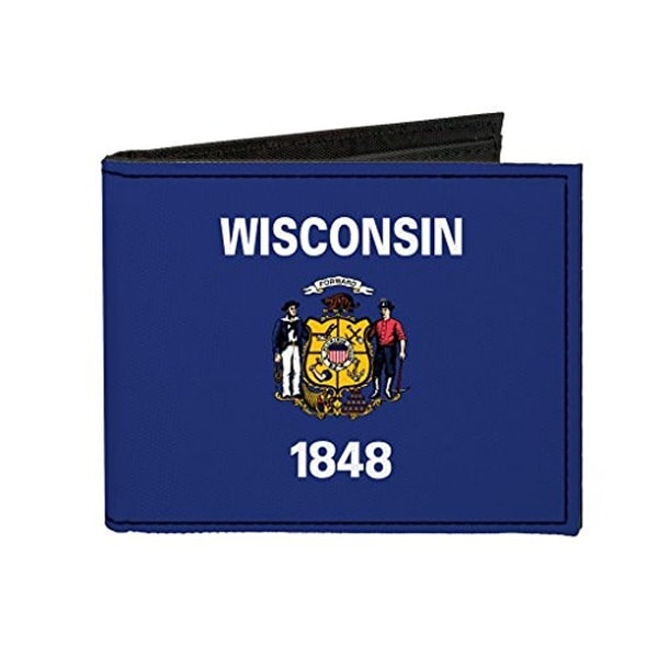 Buckle-Down Canvas Bi-fold Wallet - Wisconsin Flag Accessory