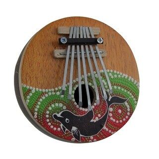 Hand Crafted Coconut and Wood 7 Key Dolphin Mbira Thumb Piano