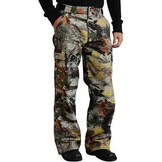 Roper Western Pants Mens Rlx Zip Cuff Brown Camo