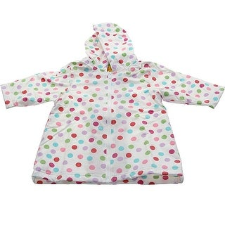 Pluie Pluie Girls Outerwear White Polka Dot Unlined Raincoat 12M-8 (5 options available)
