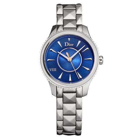 Christian Dior Women's CD152110M013 'Montaigne' Blue Dial Stainless Steel Swiss Quartz Watch