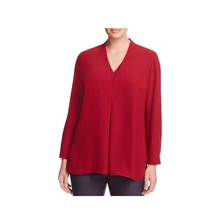 Nic + Zoe Womens Plus Pullover Top Pleated Bracelet Sleeve (5 options available)