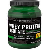 Piping Rock Whey Protein Isolate Powder Natural Unflavored 1.2 Lbs (544 g)