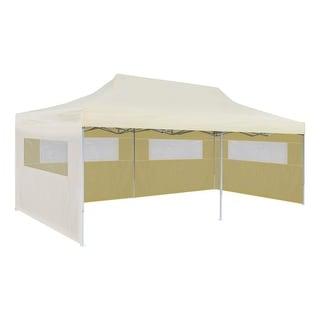"vidaXL Cream Foldable Pop-up Party Tent 9'10""x19'8"""