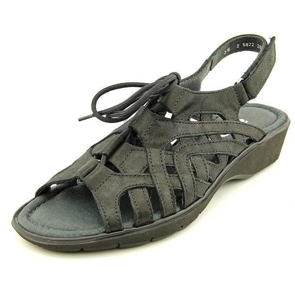 Ara Liv Open-Toe Canvas Slingback Sandal