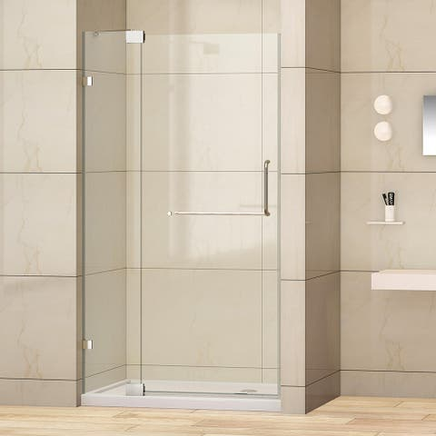 """Milano 36"""" W x 72"""" H Hinged Frameless Tub Door in Polished Chrome - 36"""" W x 72"""" H"""