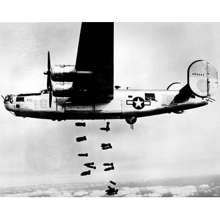 ''B-24 Liberator Bombing Muhldorf, Germany, 1945'' by McMahan Photo Archive Military Art Print (8 x 10 in.)