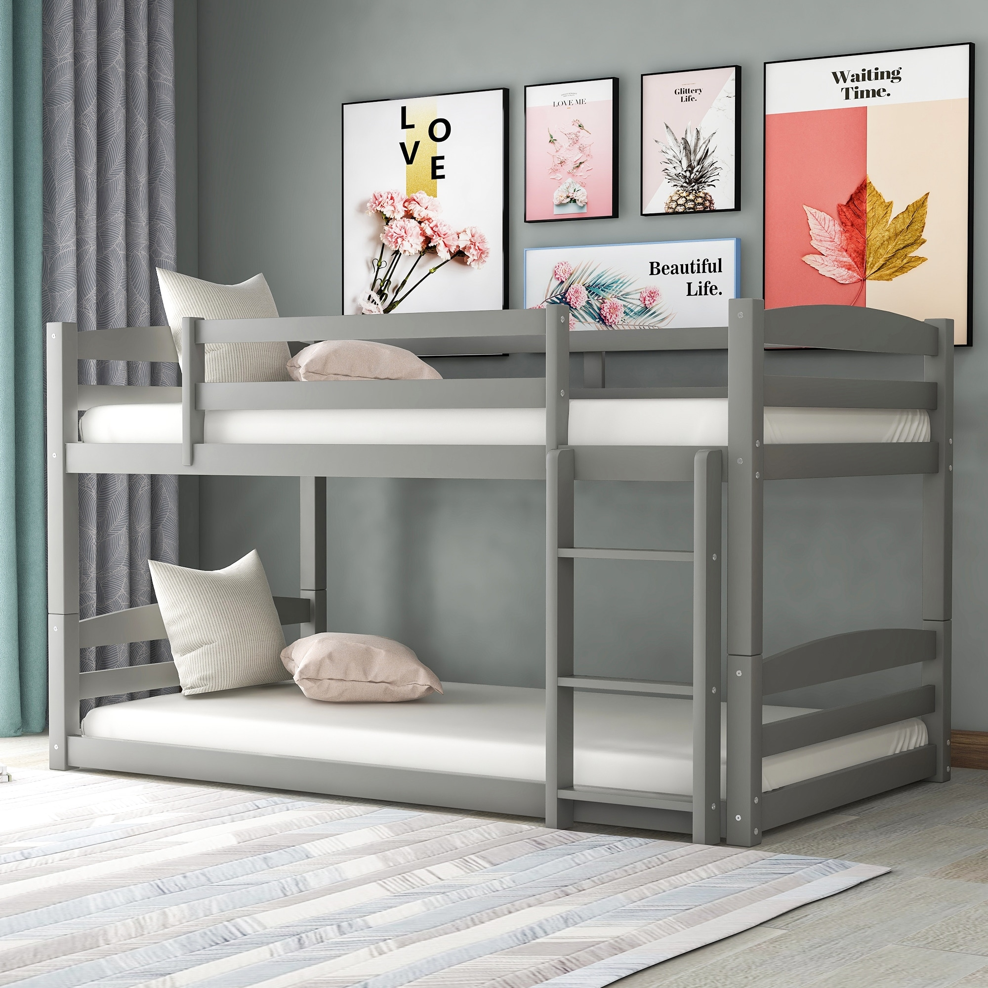 Twin Over Twin Bunk Bed Separable On Sale Overstock 32687011