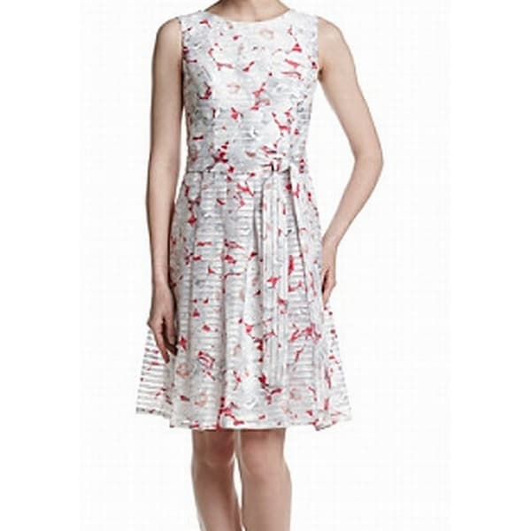 e6a05135c93 Shop Tommy Hilfiger NEW White Womens 14 Floral Print Pleated Sheath Dress -  Free Shipping On Orders Over  45 - Overstock.com - 21252697
