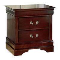 Ashley Furniture B376-92 Alisdair Two Drawer Night Stand w/ Deep Brown Finish