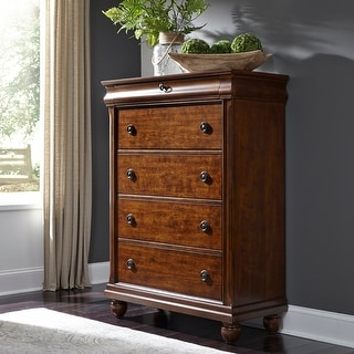 Link to Rustic Cherry Traditions 5-Drawer Chest Similar Items in Dressers & Chests